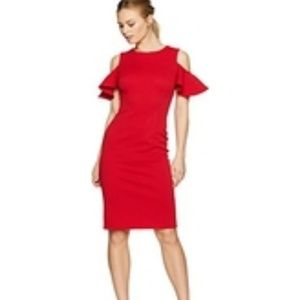 IvankaTrump Cold Shoulder Sheath Crepe Dress-8,NWT